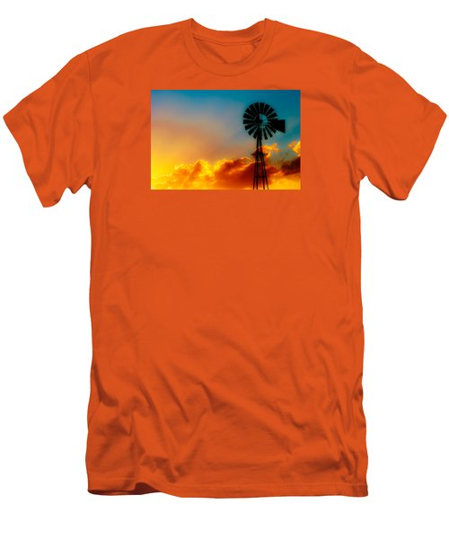 Men's T-Shirt (Slim Fit) featuring the photograph Texas Sunrise by Darryl Dalton