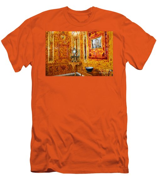The Amber Room At Catherine Palace Men's T-Shirt (Slim Fit) by Catherine Sherman