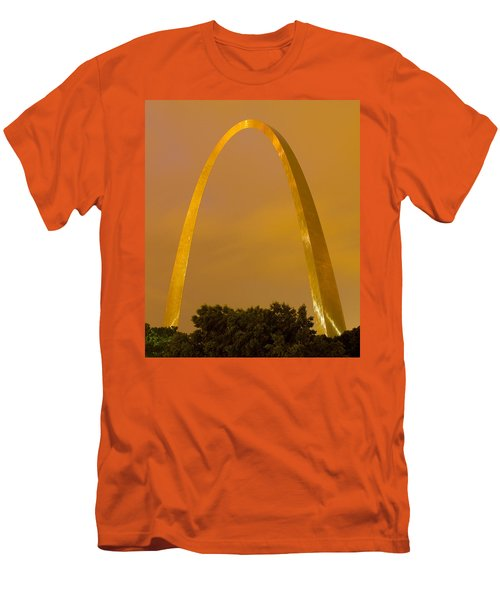 The Arch In The Glow Of St Louis City Lights At Night Men's T-Shirt (Athletic Fit)