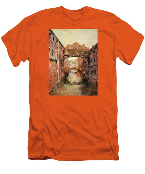 The Bridge Of Sighs Venice Italy Men's T-Shirt (Slim Fit) by Jean Walker