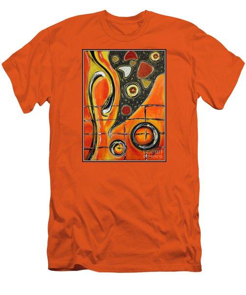 The Fires Of Charged Emotions Men's T-Shirt (Slim Fit) by Jolanta Anna Karolska