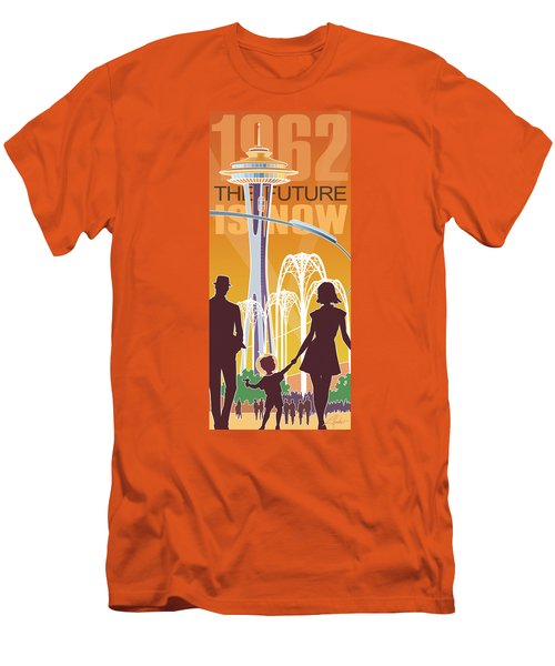 The Future Is Now - Orange Men's T-Shirt (Athletic Fit)