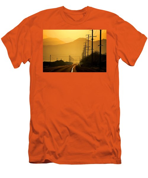 Men's T-Shirt (Slim Fit) featuring the photograph The Golden Road by Matt Harang