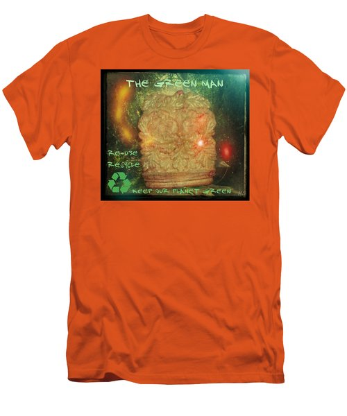 Men's T-Shirt (Slim Fit) featuring the photograph The Green Man - Recycle by Absinthe Art By Michelle LeAnn Scott