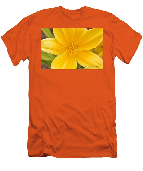 Men's T-Shirt (Slim Fit) featuring the photograph The Lily From Kentucky by Verana Stark