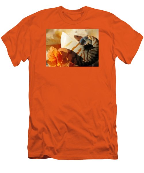 Men's T-Shirt (Slim Fit) featuring the photograph The Secret Of The Sea by Angela Davies