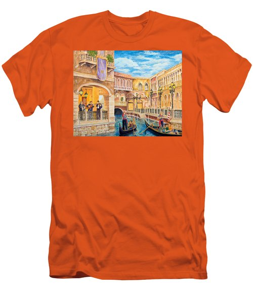 The Venetian Canal  Men's T-Shirt (Athletic Fit)