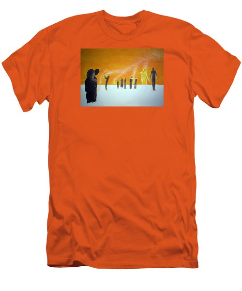 Those Who Left Early Men's T-Shirt (Slim Fit) by Lazaro Hurtado