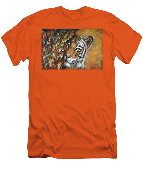Tiger 300711 Men's T-Shirt (Slim Fit) by Selena Boron