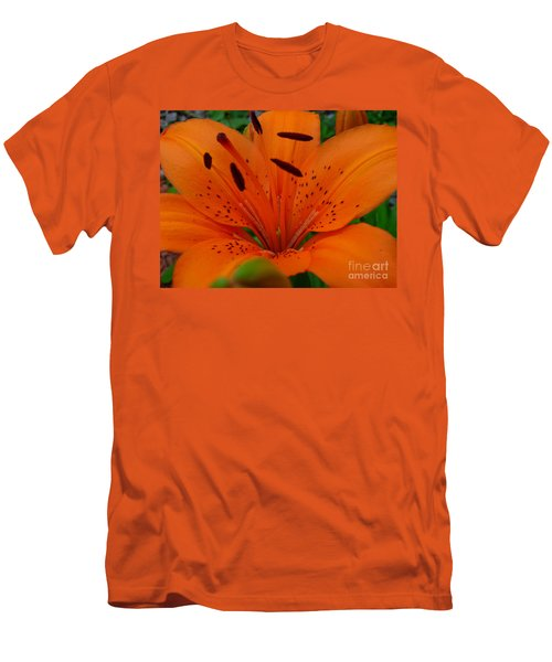 Men's T-Shirt (Slim Fit) featuring the photograph Tiger Lily by Bianca Nadeau