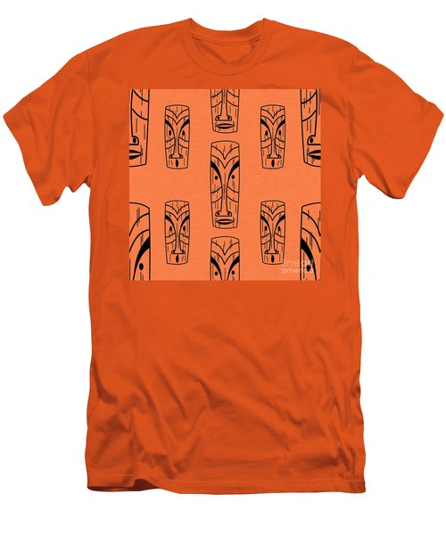 Tiki On Orange Pillow Men's T-Shirt (Athletic Fit)