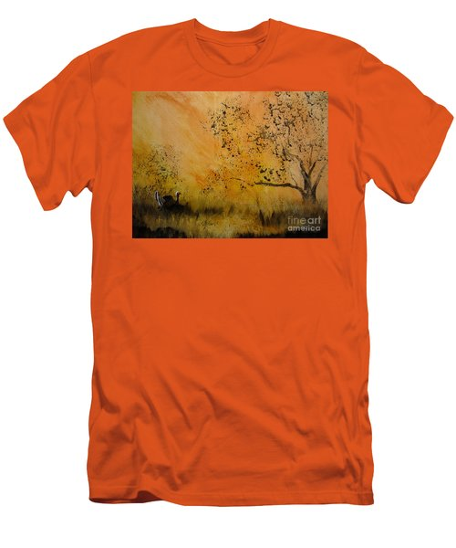 Men's T-Shirt (Slim Fit) featuring the painting Tom by Laurianna Taylor