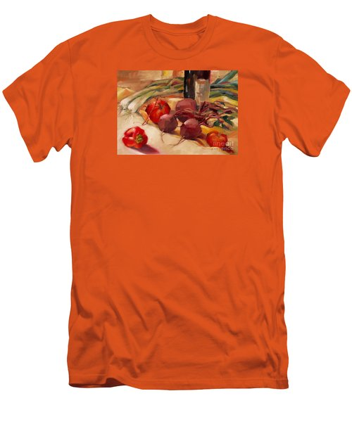 Men's T-Shirt (Slim Fit) featuring the painting Tom's Bounty by Michelle Abrams
