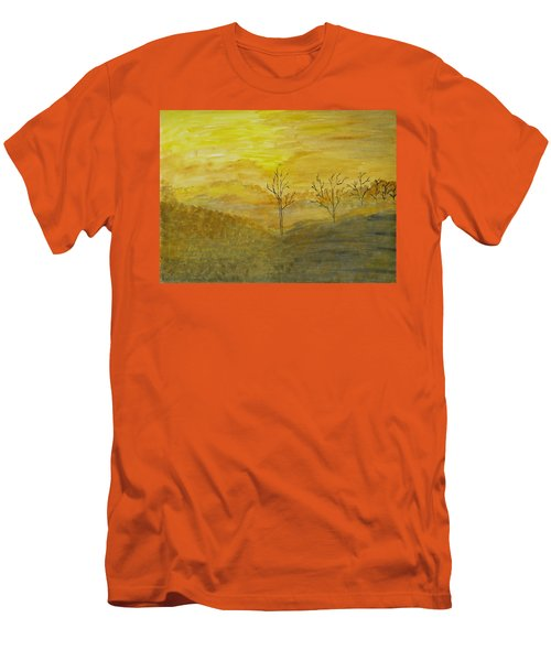 Touch Of Gold Men's T-Shirt (Slim Fit) by Sonali Gangane
