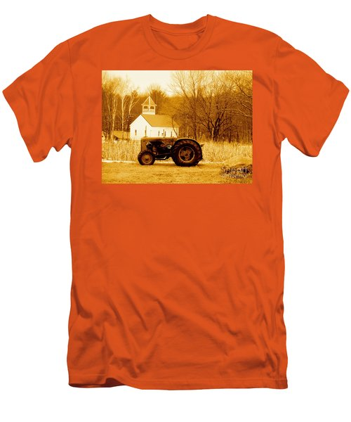 Tractor In The Field Men's T-Shirt (Athletic Fit)