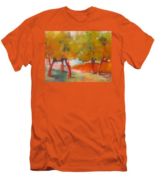 Men's T-Shirt (Slim Fit) featuring the painting Trees #5 by Michelle Abrams