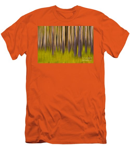 Men's T-Shirt (Slim Fit) featuring the digital art Trees by Jerry Fornarotto