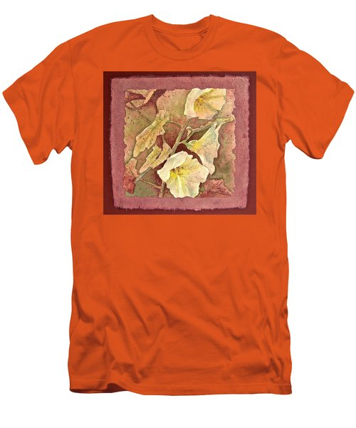 Men's T-Shirt (Slim Fit) featuring the painting Triple White by Carolyn Rosenberger