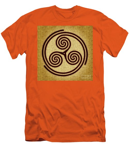 Triskelion  Men's T-Shirt (Slim Fit) by Olga Hamilton
