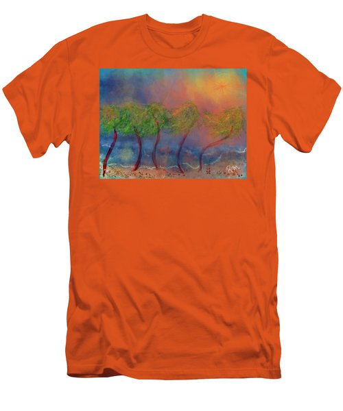 Tropical Sorm On The Way Out Men's T-Shirt (Athletic Fit)
