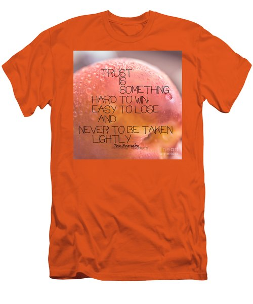 Men's T-Shirt (Slim Fit) featuring the photograph Trust Is Something by Vicki Ferrari