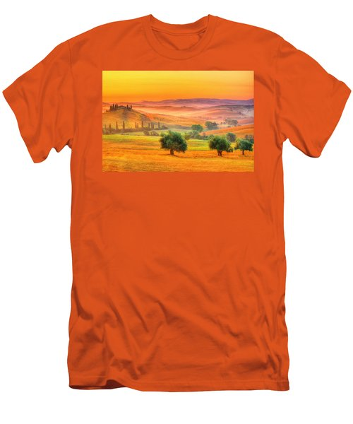 Tuscan Dream Men's T-Shirt (Slim Fit) by Midori Chan