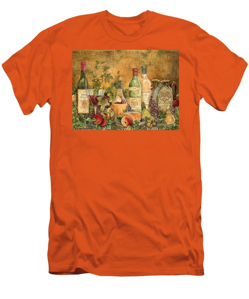 Tuscan Wine Treasures Men's T-Shirt (Slim Fit) by Jean Plout
