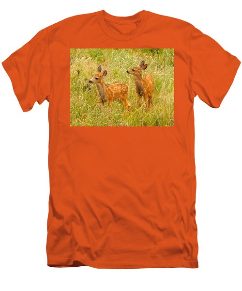 Twin Fawns Men's T-Shirt (Slim Fit) by Dan Miller