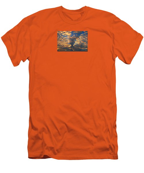 Twisted Sunset Men's T-Shirt (Slim Fit) by Janice Westerberg