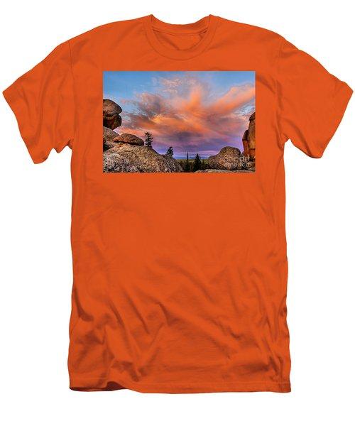 Vedauwoo Sunrise Men's T-Shirt (Slim Fit) by Steven Reed