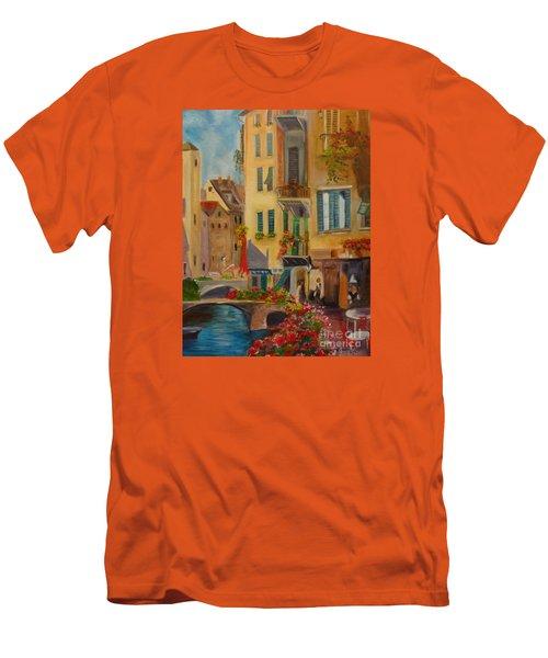 Venic Canal 1 Men's T-Shirt (Slim Fit) by Jenny Lee