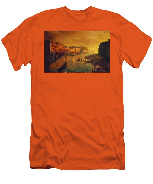 Venice From The Rialto Bridge Men's T-Shirt (Athletic Fit)