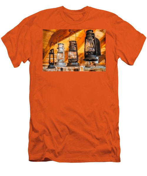 Vintage Oil Lanterns Men's T-Shirt (Athletic Fit)