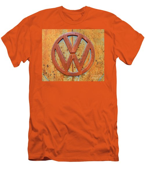 Vintage Volkswagen Bus Logo Men's T-Shirt (Slim Fit) by Catherine Sherman