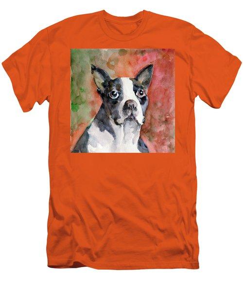 Vodka - French Bulldog Men's T-Shirt (Slim Fit) by Faruk Koksal