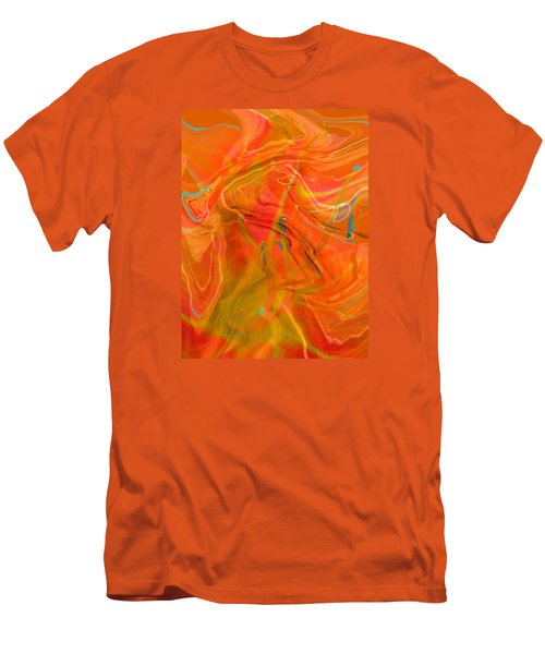 Men's T-Shirt (Slim Fit) featuring the photograph Was A Daylily by Brooks Garten Hauschild