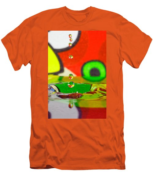 Men's T-Shirt (Slim Fit) featuring the photograph Water Dew by Peter Lakomy