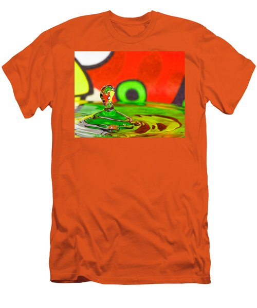 Men's T-Shirt (Slim Fit) featuring the photograph Water Hill by Peter Lakomy