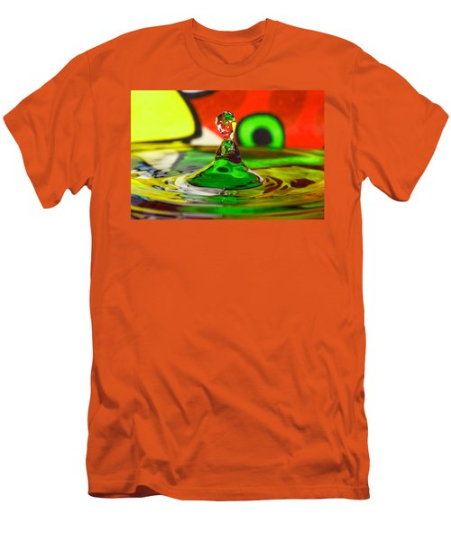 Men's T-Shirt (Slim Fit) featuring the photograph Water Stick by Peter Lakomy