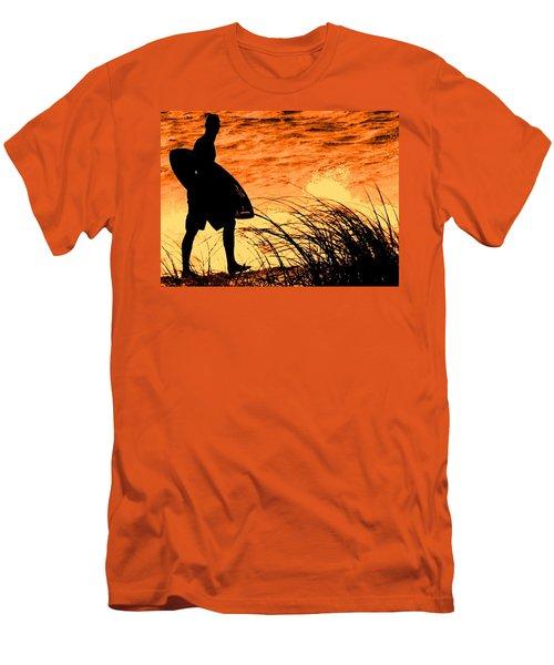 Wave Search Men's T-Shirt (Slim Fit) by Ian  MacDonald