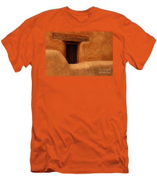 Window Detail Degrazia Mission In The Sun Men's T-Shirt (Slim Fit) by Vivian Christopher