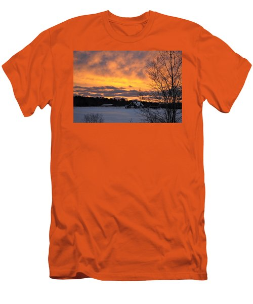 Winter Fire Men's T-Shirt (Athletic Fit)