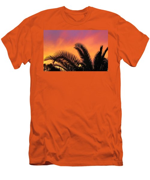 Winter Sunset Men's T-Shirt (Slim Fit) by Tammy Espino