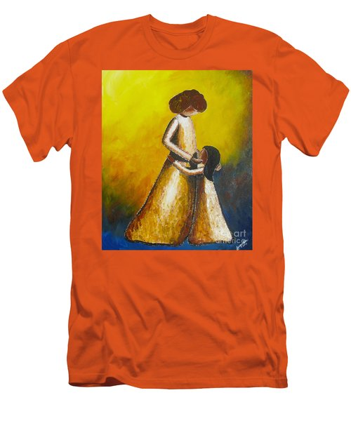 With Her Men's T-Shirt (Slim Fit) by Jacqueline Athmann
