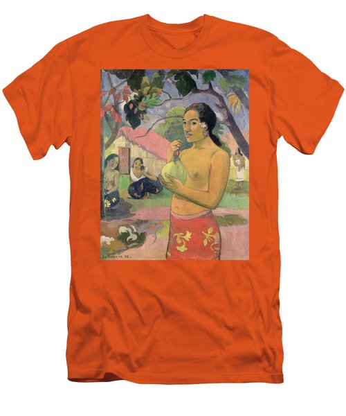 Woman With Mango Men's T-Shirt (Slim Fit) by Paul Gauguin