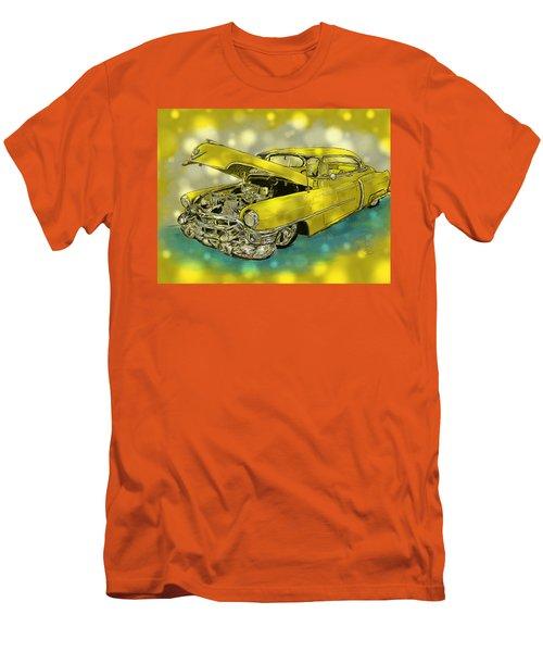 Yellow Cad Men's T-Shirt (Slim Fit) by Debra Baldwin