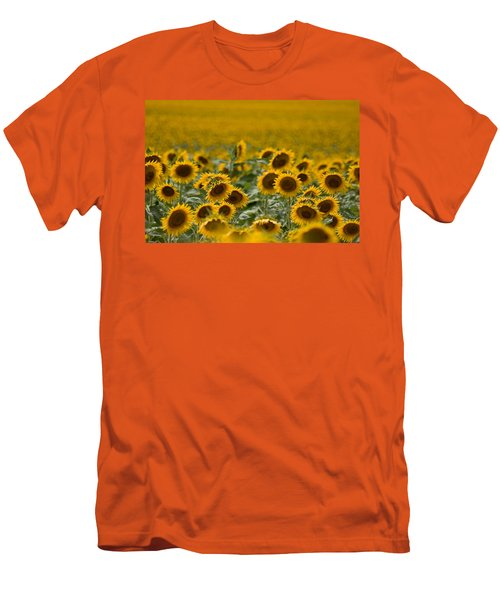 Men's T-Shirt (Slim Fit) featuring the photograph Yellow by Ronda Kimbrow