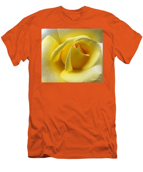 Yellow Rose Softness Men's T-Shirt (Athletic Fit)