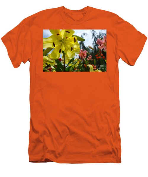 Yellow Whopper Lily 1 Men's T-Shirt (Athletic Fit)