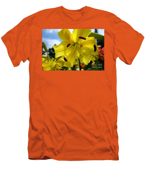 Yellow Whopper Lily 2 Men's T-Shirt (Athletic Fit)